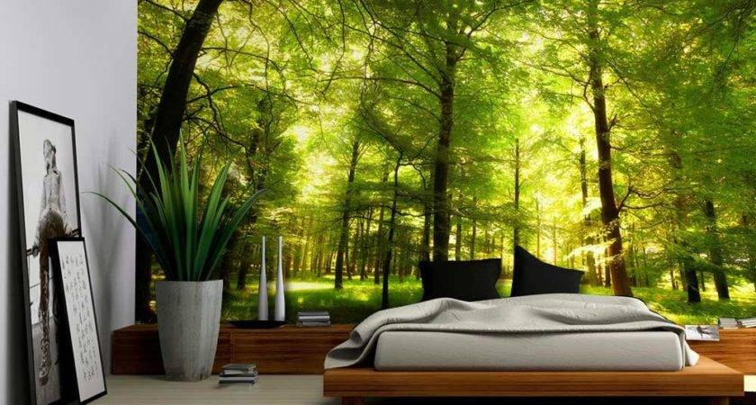 Crowded Forest Mural Wall Removable Sticker Home