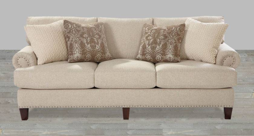 Custom Upholstered Fabric Sofa Mayberry Living Room Sets