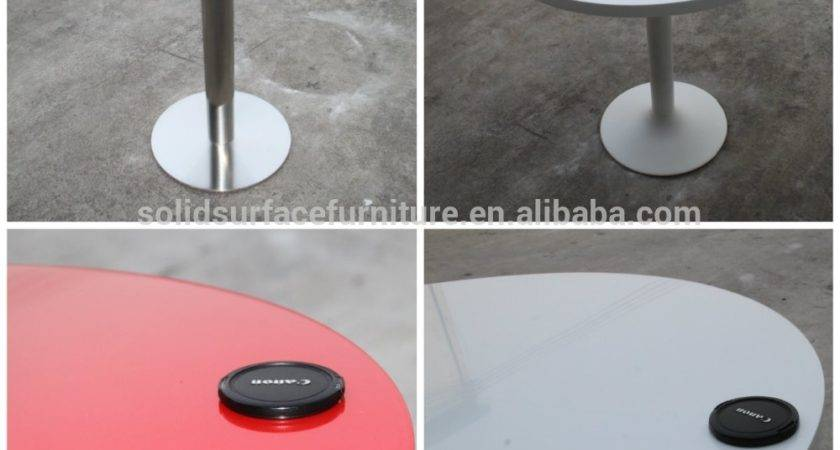 Custom Various Color Beautiful Round Corian Table Tops
