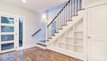 Customized Staircase Built Shelves Traditional
