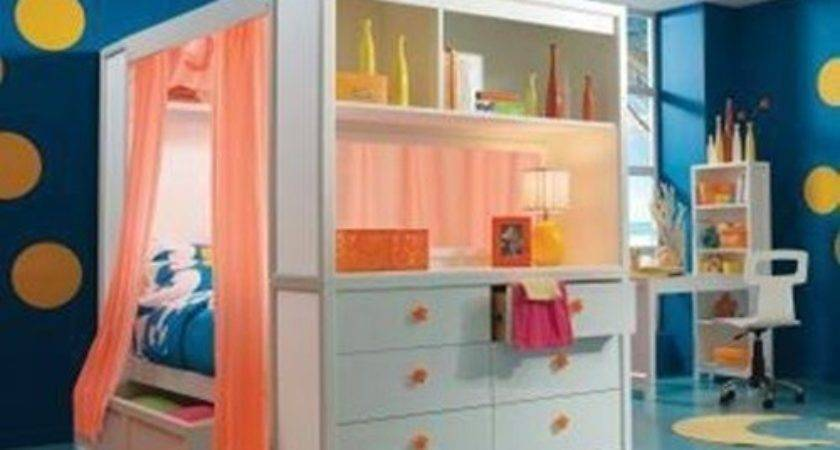 Cute Beds Kids Small Rooms Interior Design