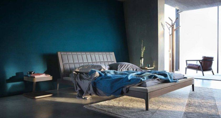 Dark Blue Cool Bedroom Paint Ideas Modern Home Design