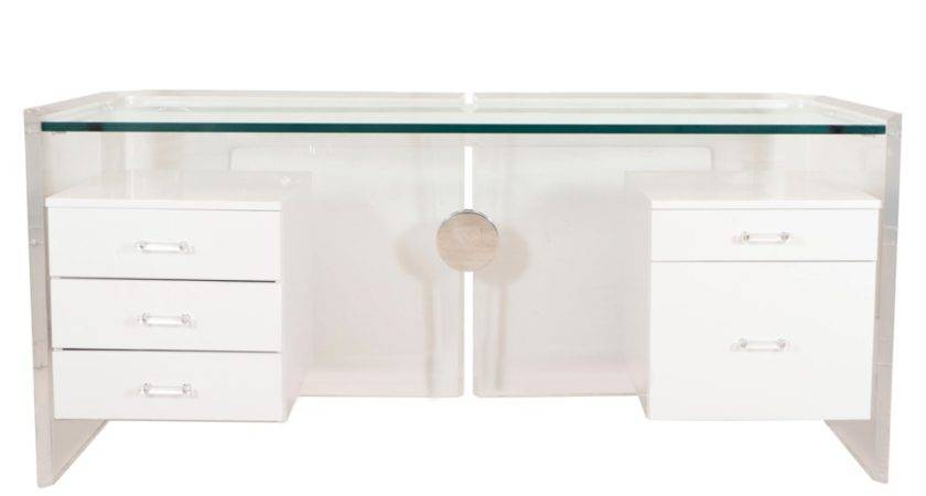Decor Tips Exciting Lucite Desk Design White Drawers