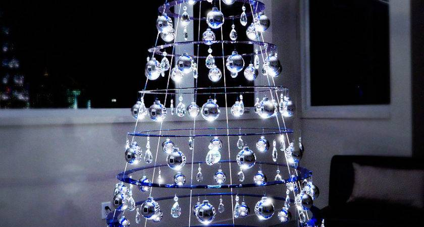 Decorated Hanging Tree Modern Christmas Trees