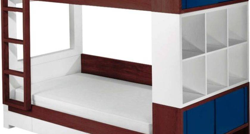 Decorative Double Deck Bed Twin Bunk Trundle