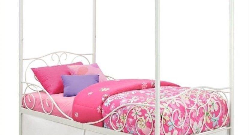 Dhp Twin Metal Canopy Bed White