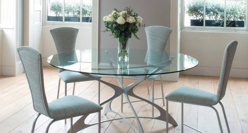Dining Room Stunning Round Glass Dinette Sets