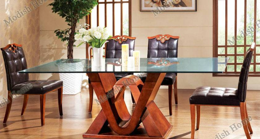 Dining Table Designs Wood Glass Top