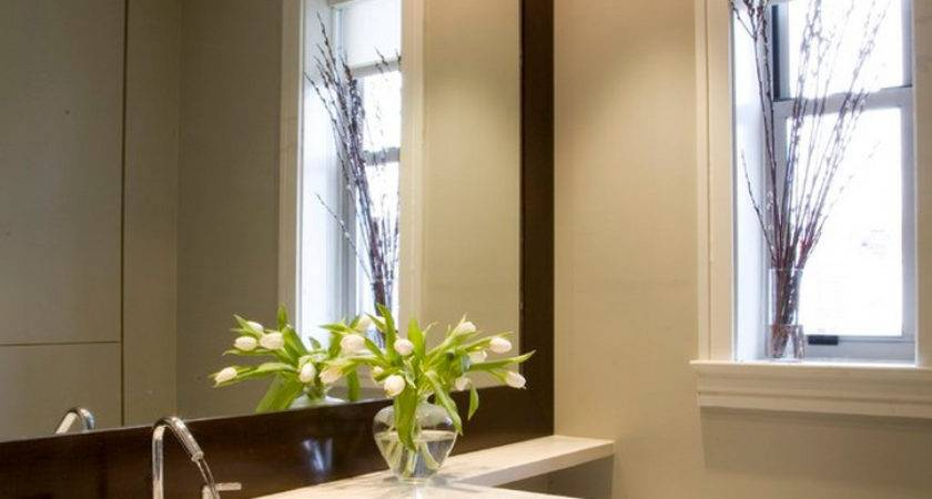 Diy Bathroom Mirror Frame Ideas Interior Design