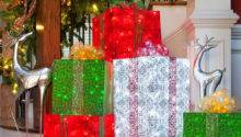 Diy Christmas Decorations Lighted Gift Boxes
