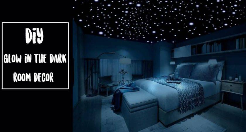 Diy Glow Dark Room Decor Youtube
