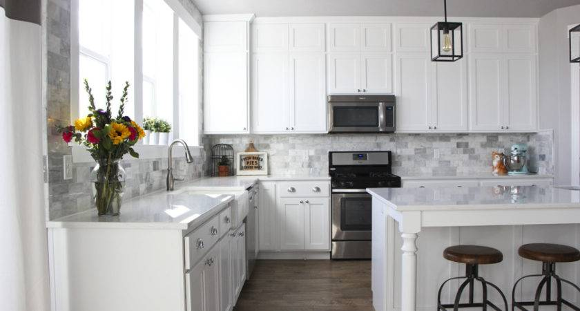 Diy Marble Backsplash Honeybear Lane