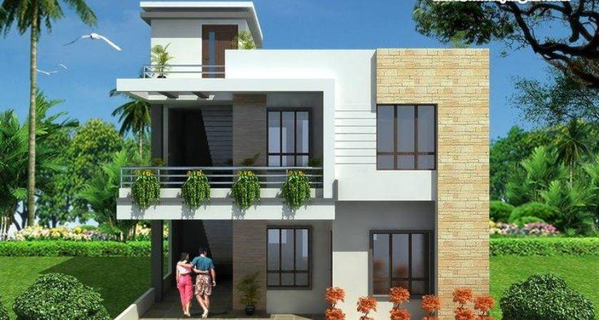 Duplex Floor House Design Link Apnaghar Home Plans