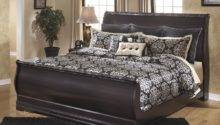 Elegant King Queen Louis Philippe Sleight Bed Frame