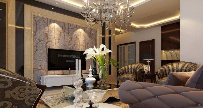 Elegant Living Room Wall Neoclassical