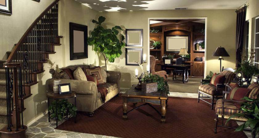 Elegant Living Rooms Richly Furnished Decorated