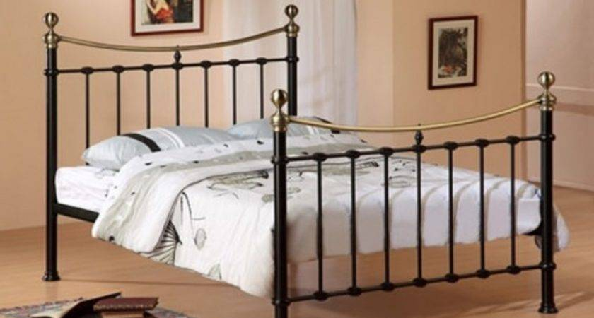 Elizabeth Black Antique Victorian Ornate Double Bed Frame
