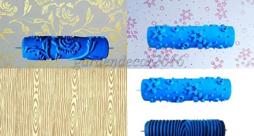 Embossed Paint Roller Sleeve Wall Texture Stencil Brush