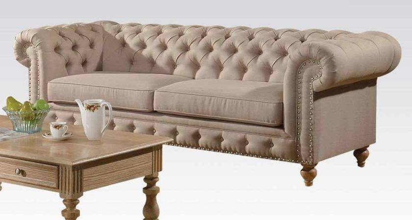 Fabric Beige Sofa Semadara Traditional Sofas