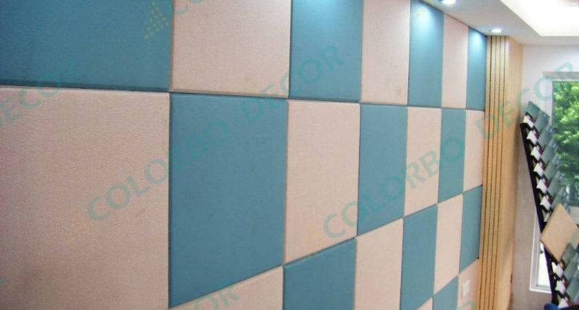 Fabric Covered Acoustic Wall Panels Plant Fiber