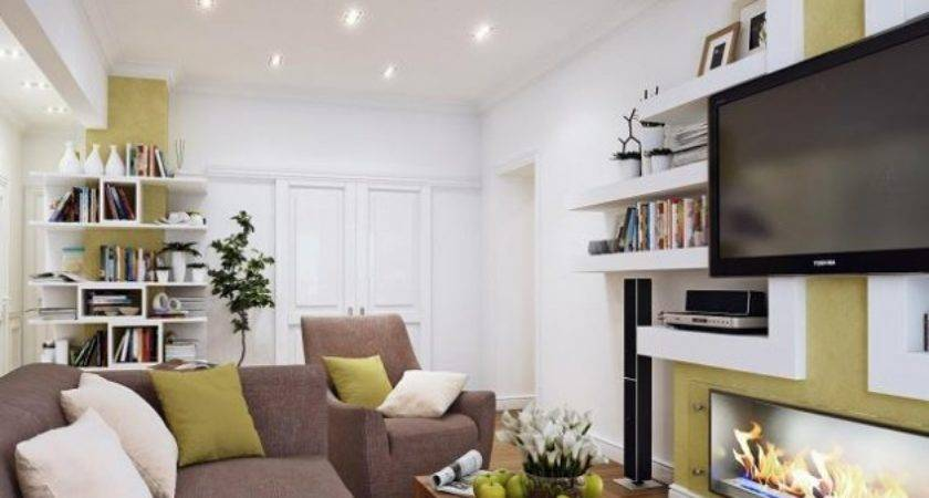 Fashionable Tiny Residence Living Room Spaces