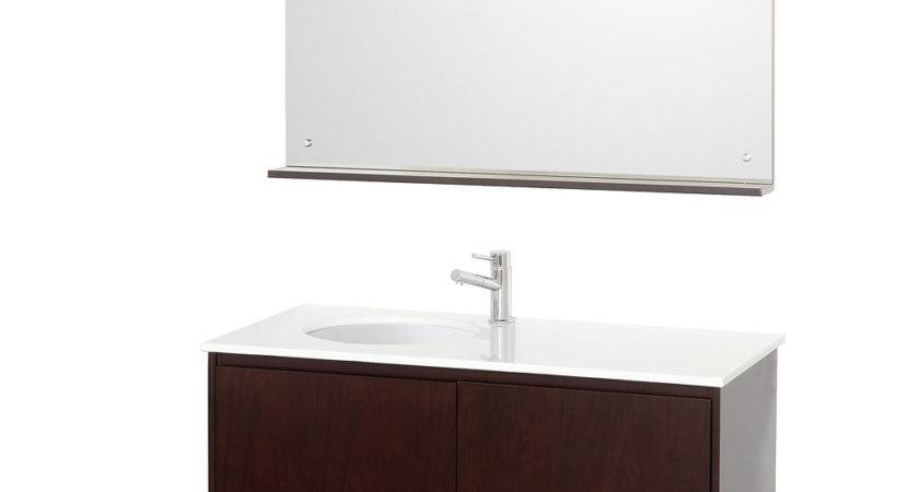 Fellino Wall Mounted Bathroom Vanity Set Espresso