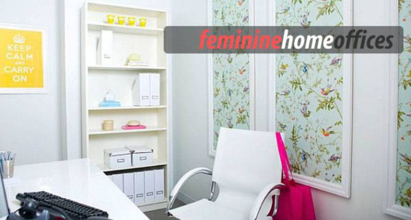 Feminine Home Office Designs Pull Off