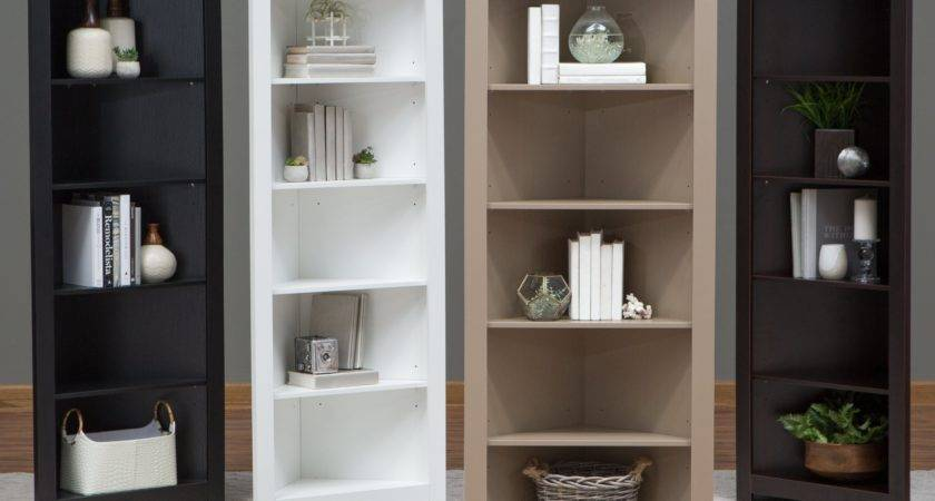 Finley Home Redford Corner Bookcase Bookcases Hayneedle