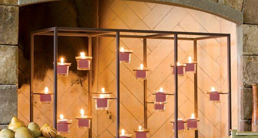 Fireplace Candle Holders Incredibly Easy Set