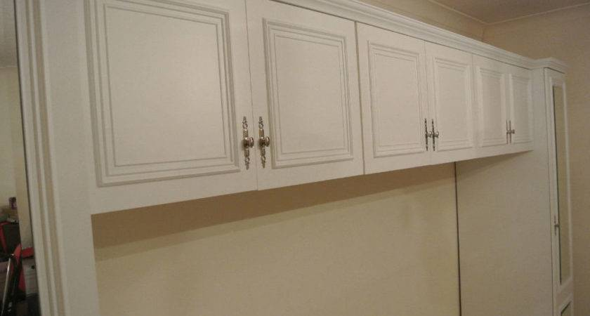 Fitted White Wardrobes Over Bed Storage Units Home