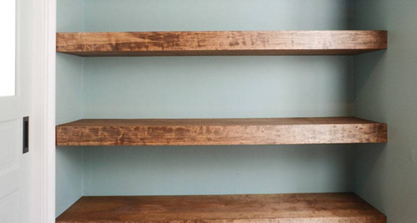 Floating Wood Shelves Plans Quick Woodworking Projects
