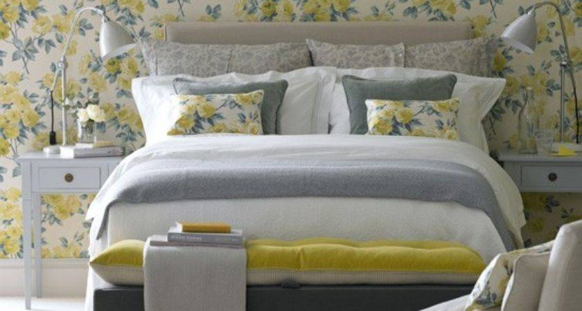 Floral Yellow Bedroom Country Decorating