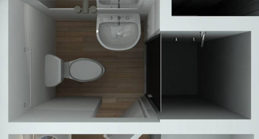 Foot Container House Above Bathroom