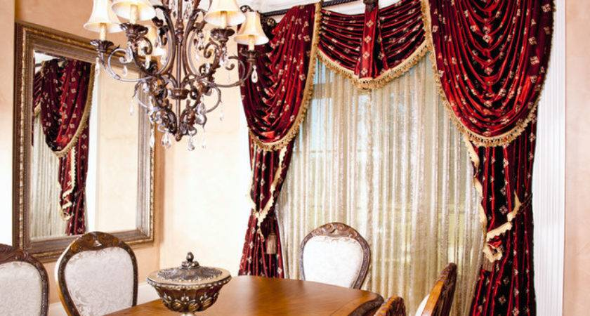 Formal Dining Room Draperies Traditional