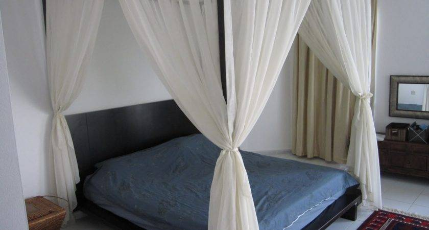 Four Poster Bed Canopy Curtains Interior Design