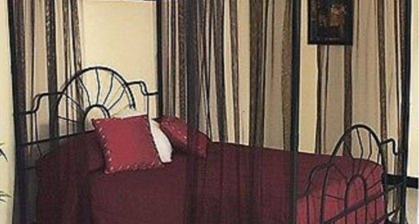 Four Poster Beds Canopy Curtain King Queen Bed Sheer