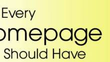 Four Things Every Homepage Should Have Media