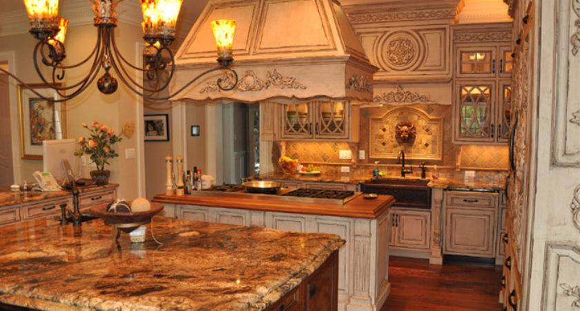 French Country Inspired Rococo Kitchen Cabinets Graber