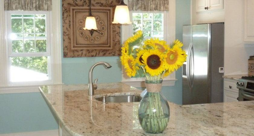 French Country Kitchen Colonial Gold Countertops