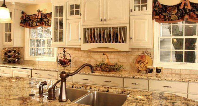 French Country Kitchen Island Traditional