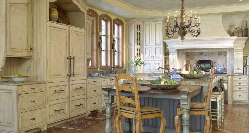 French Country Kitchens Black Marble Countertop High Glass