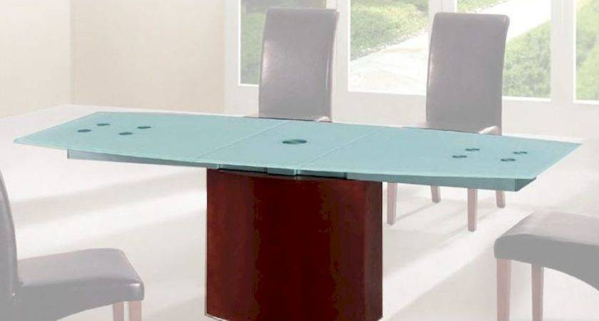 Frosted Glass Top Dining Table European Design