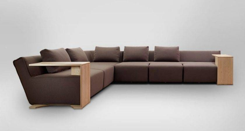 Functional Modular Sofa Modifiable Wooden Tables