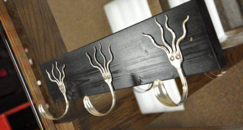 Funky Forks Coat Rack Recycled Silverware