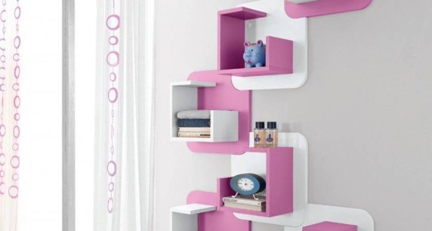 Funky Pink Wall Shelves