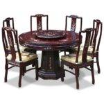 Furniture Beautiful Large Round Dining Table Seats