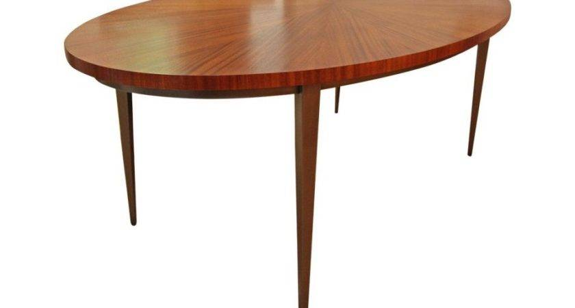Furniture Fancy Oval Wooden Dining Table White