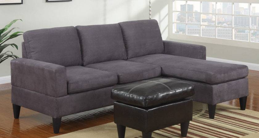 Furniture Faux Leather Microfiber Small Sectional