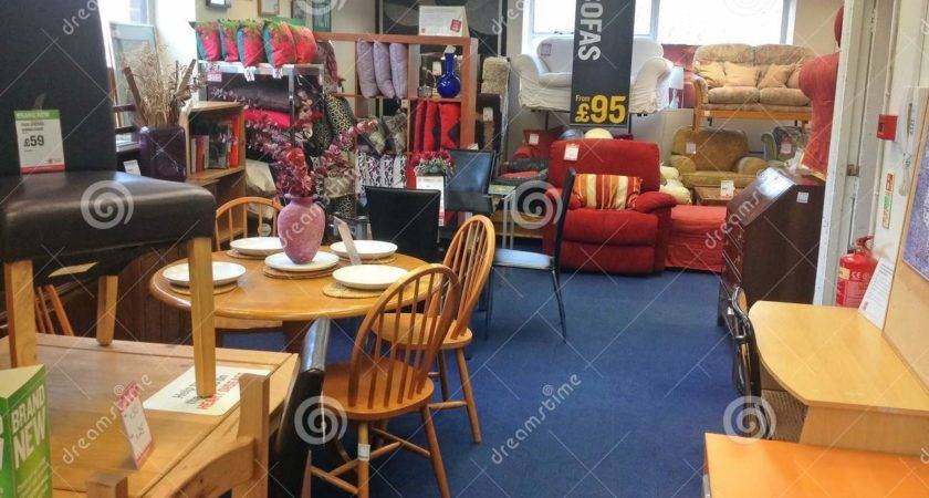 Furniture Inside Second Hand Used Charity Shop