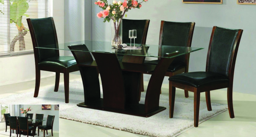 Furniture Outstanding Dining Table Glass Top Alluring